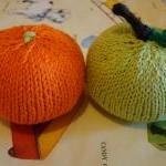 Knitted Apple Baby Rattle
