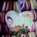 Wooden Heart with bird and ..