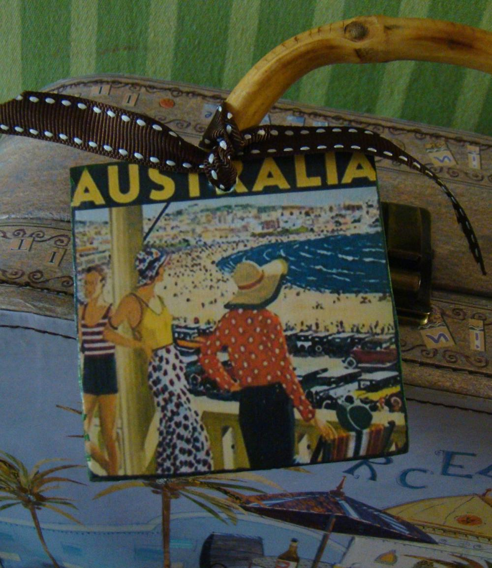 Australia Vintage Style Customized Luggage Tag