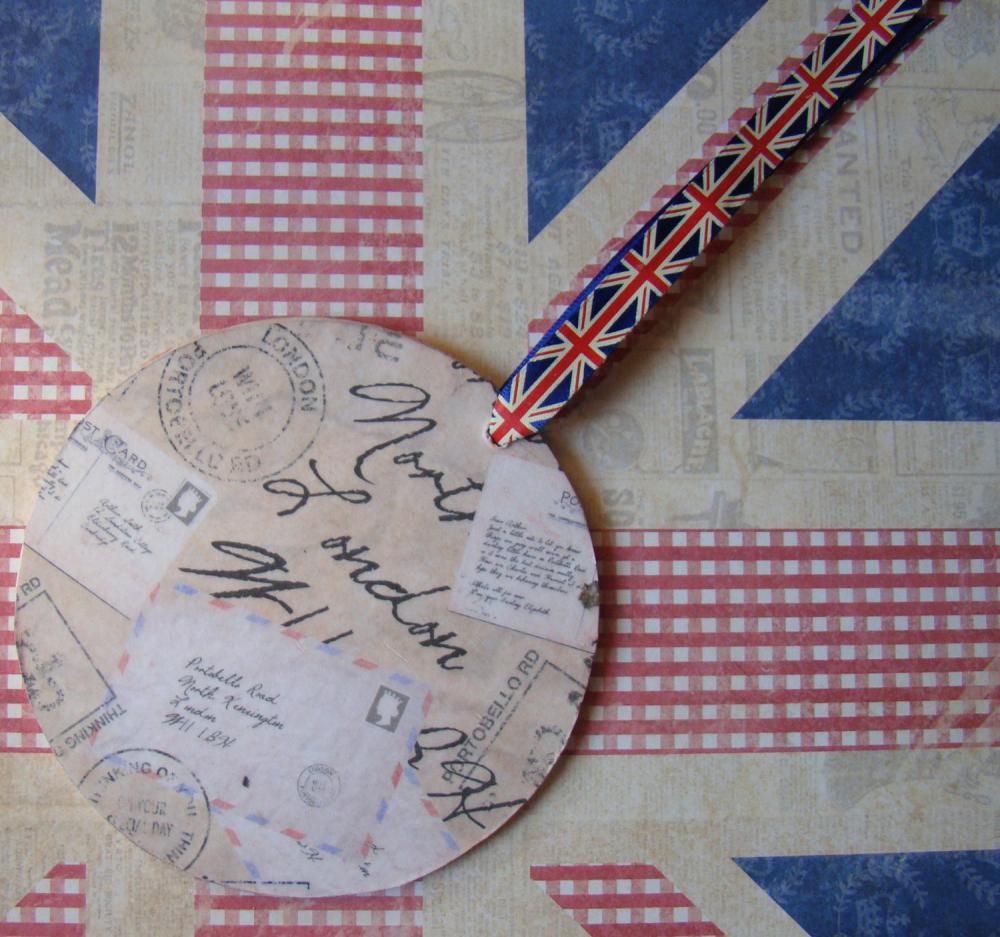 Jubilee Union Jack Wooden Bag and Luggage Tag