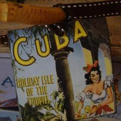 Cuba Vintage Style Customized Luggage Tag